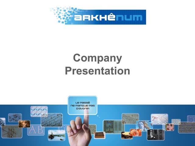 Arkhênum company presentation