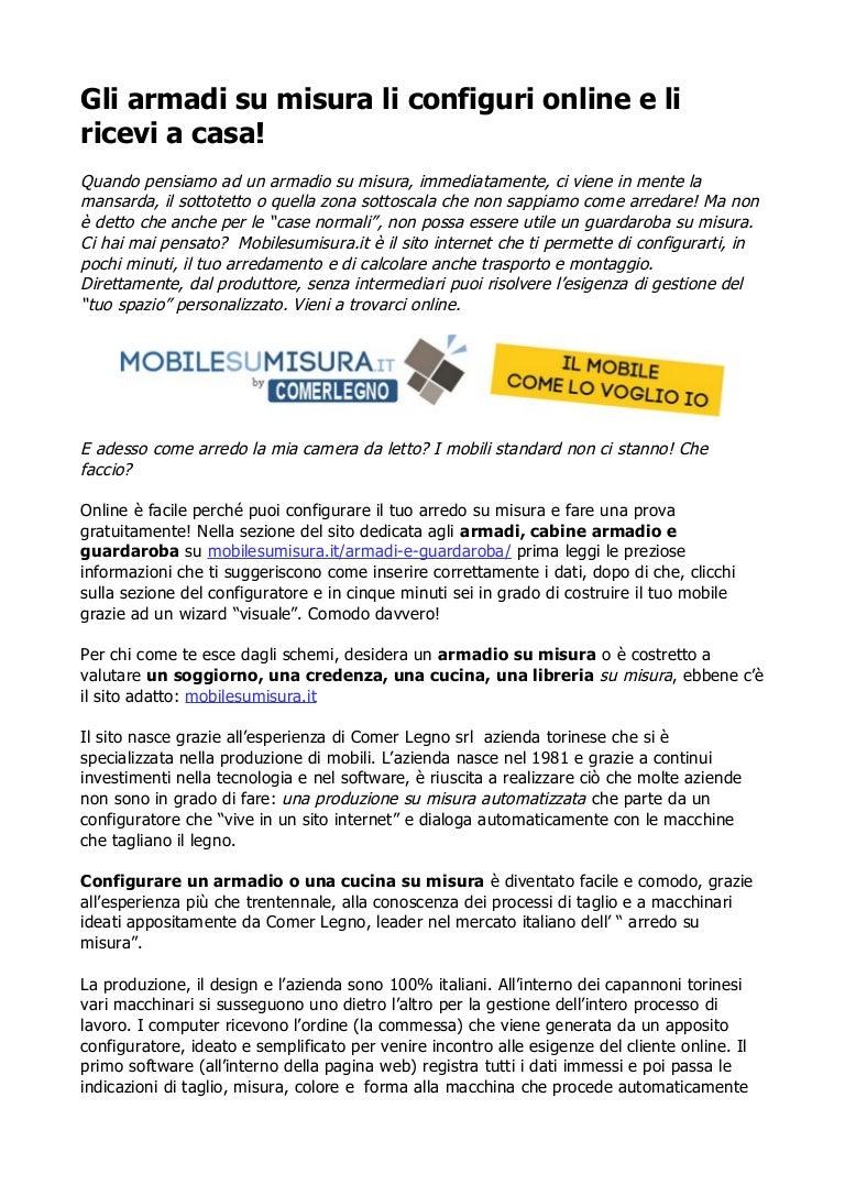 Legno Online Su Misura armadi su misura il mobile come lo voglio io