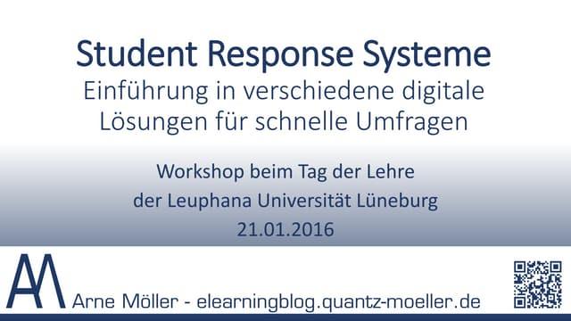Workshop Abstimmungssysteme - Audience Response Systems