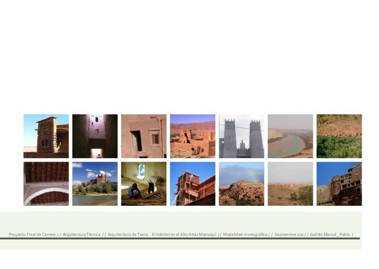 Arquitectura de tierra. el hábitat en el alto atlas marroquí pablo g…