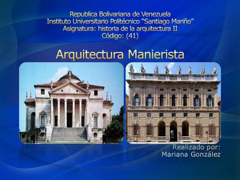 Arquitectura Manierista