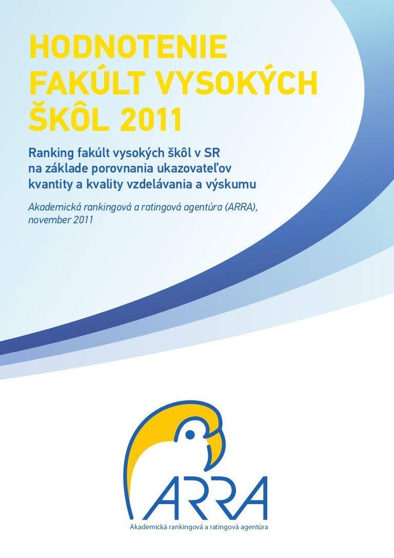 Hodnotenie fakúlt vysokých škôl 2011 385263fd940