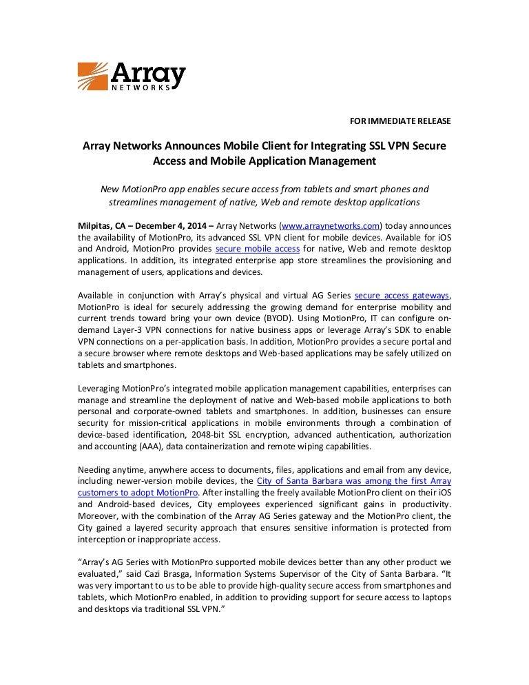 Array ssl-vpn connection software operation manual (windows 32bit.