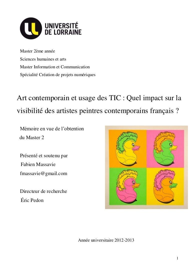 Quote Des Artistes Peintres art contemporain et usage des tic : quel impact sur la