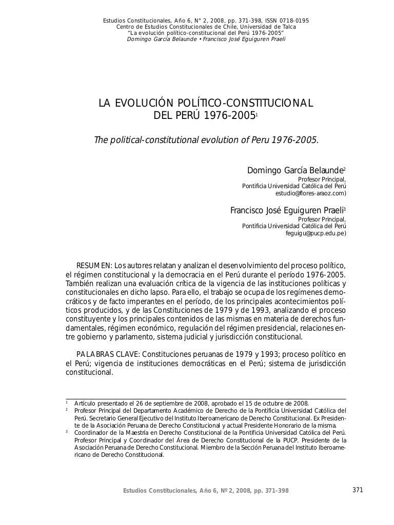 evolucion politica constitucional del peru