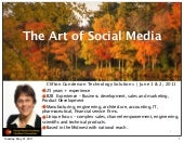 Art and Science of Social Media | Wendy Soucie - Social Media Strategist