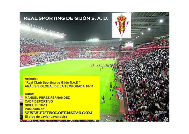 Artículo Analisis Temporada 2010 2011 Sporting de Gijón