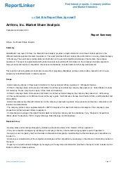 Arthrex, Inc  Market Share Analysis