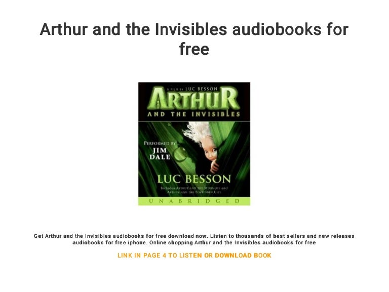 Arthur And The Invisibles Audiobooks For Free