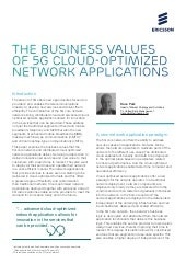 The business values of 5G cloud-optimized network applications