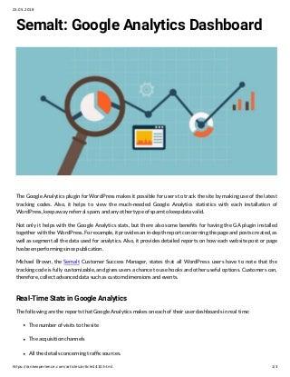 Semalt: Google Analytics Dashboard