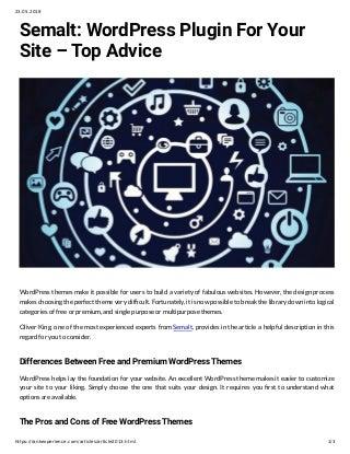 Semalt: WordPress Plugin For Your Site - Top Advice