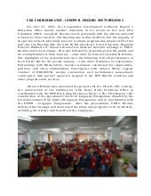 CDA Chairman  USEC Encabo Visits Region 1
