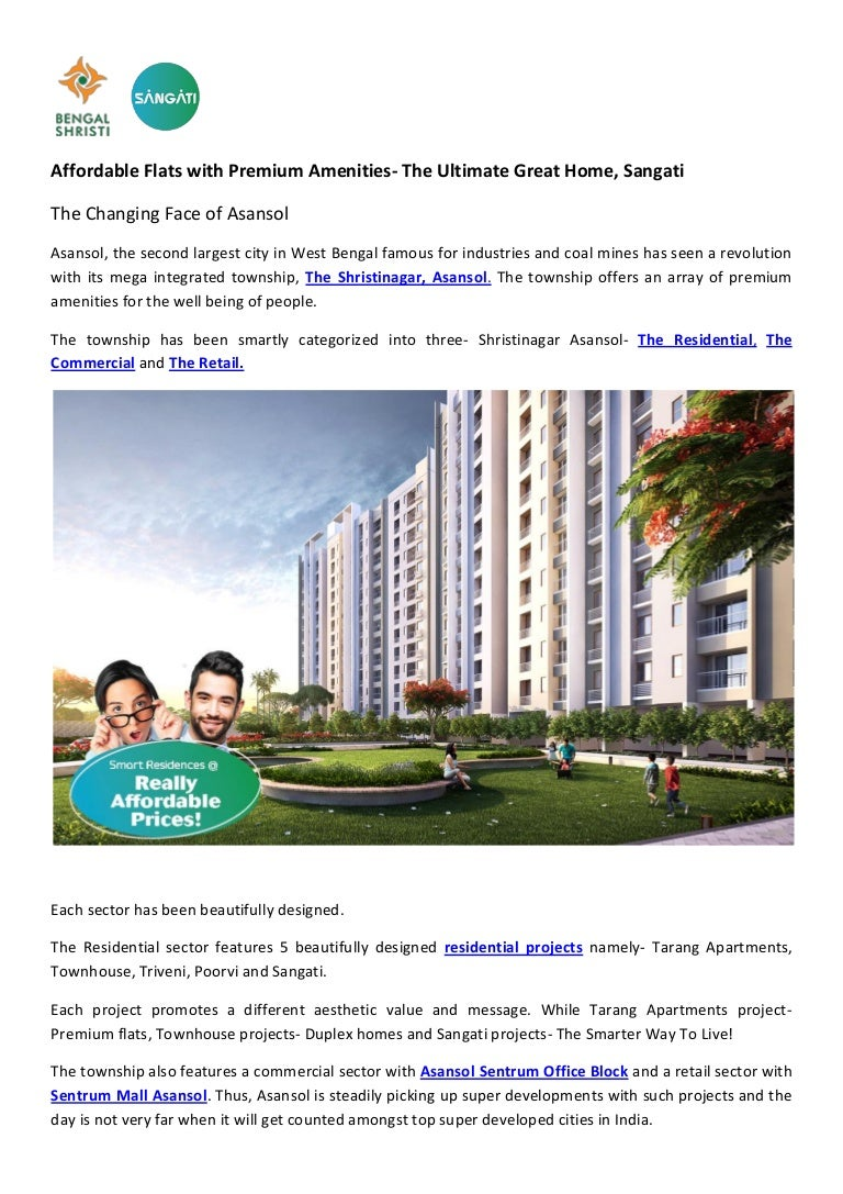 Affordable Flat In Asansol With Premium Amenities The Ultimate Great