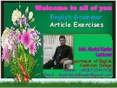 Articles- Some Exercises of Articles