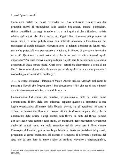 Articolo 10 Promozione e Pubblicità del libro: come si imposta lo spot.