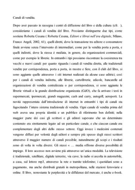 Articolo 7 Commercio di libri, ieri e oggi: canali tradizionali e digitali