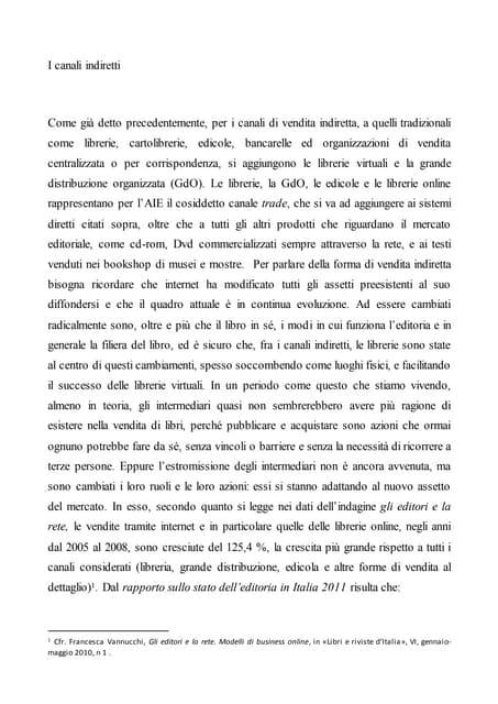 Articolo 9 Canali di vendita indiretta di libri