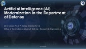 Artificial Intelligence (AI) Modernization in the Department of Defense