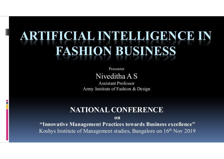 Artificial Intelligence In Fashion Business