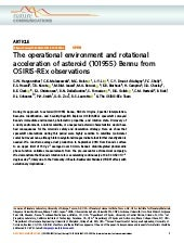 The operational environment and rotational acceleration of asteroid (101955) Bennu from OSIRIS-REx observations