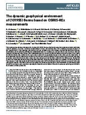 The dynamic geophysical environment of (101955) Bennu based on OSIRIS-REx measurements