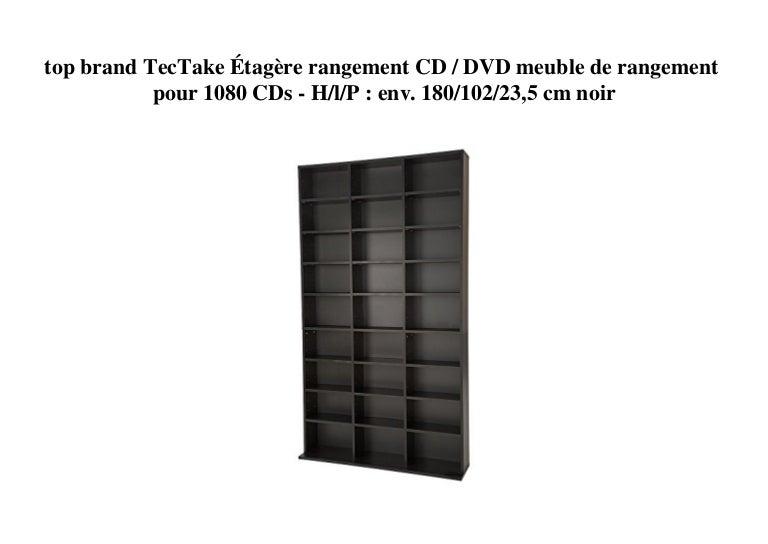 Top Brand Tectake Etagere Rangement Cd Dvd Meuble De Rangement Pour