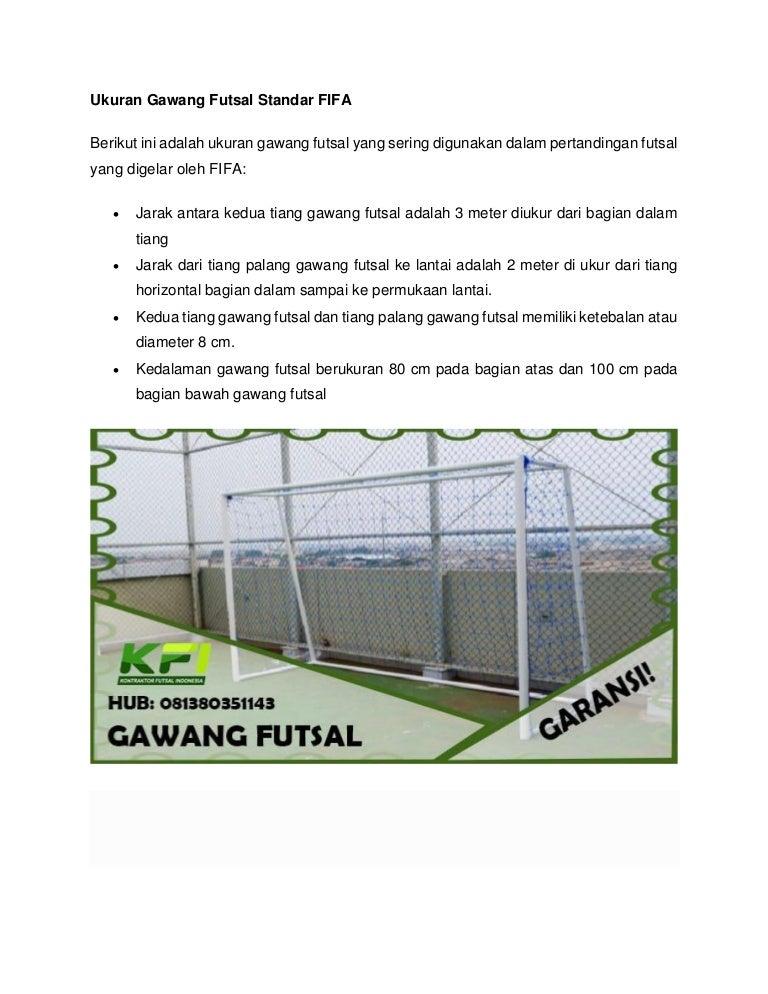 0813 8035 1143 Biaya Gawang Gol Futsal Bekasi