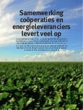Samenwerking coöperaties en energieleveranciers levert veel op