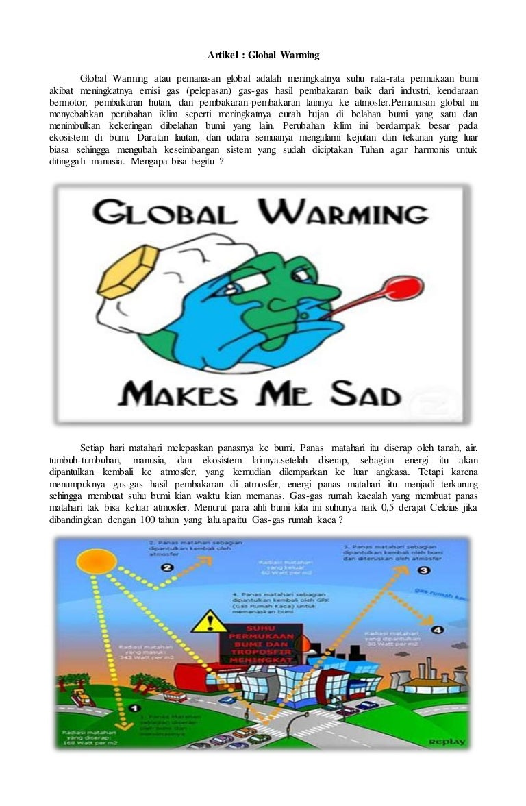 Download Gambar Sketsa Pemanasan Global