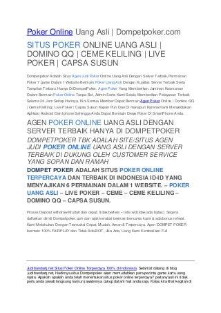 Situs Agen Bola Terbaik - Judi Casino Online - poker uang asli - Bandar Slot Terpercaya