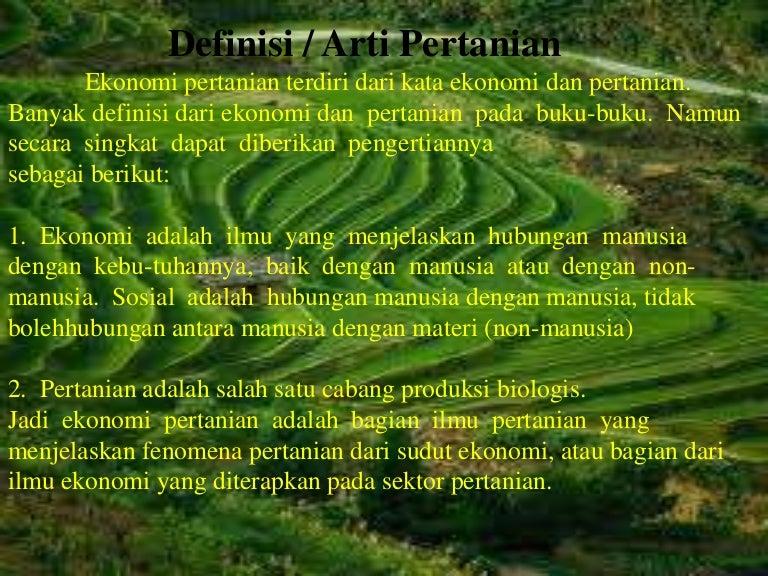 Arti Pertanian