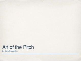 Art of the pitch (Comics!)
