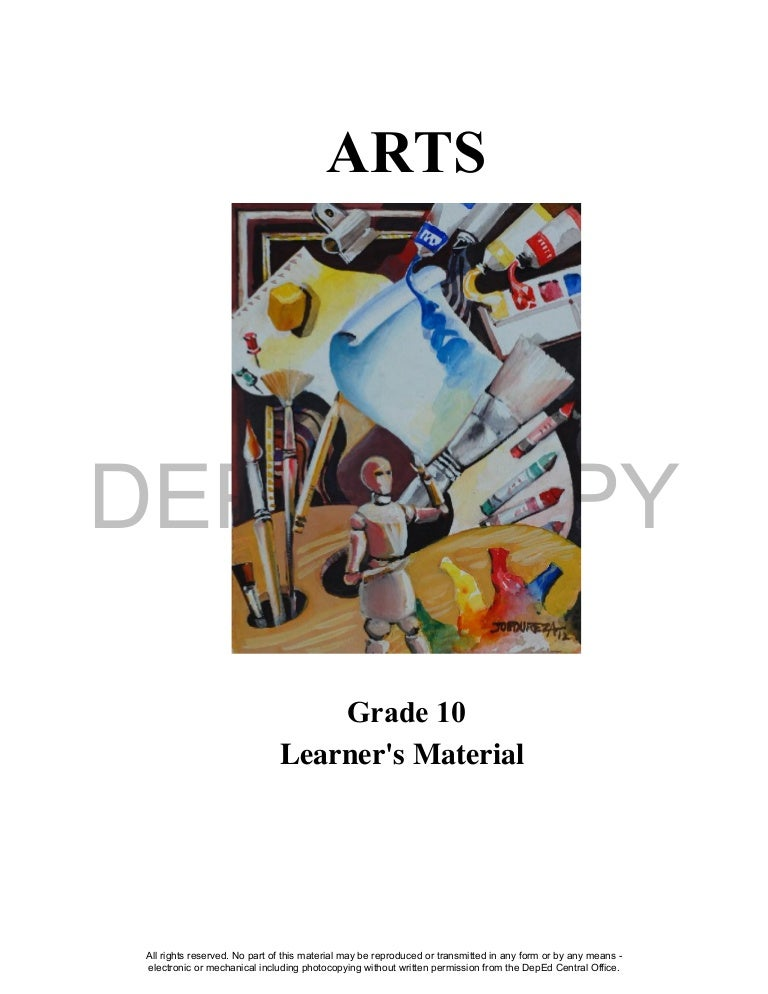 Arts 10 Learning Material