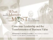 Conscious Leadership and the Transformation of Business Value