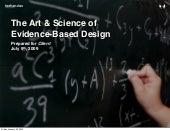 Art Vs Science & Evidence Based Design