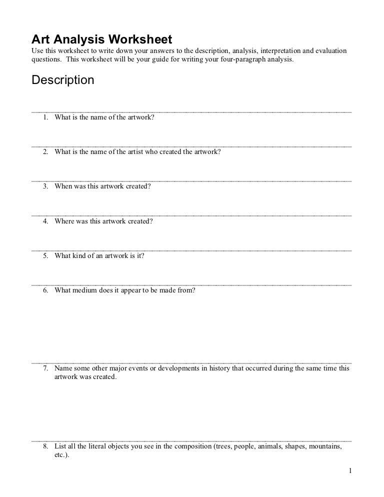 Competitor analysis-worksheet