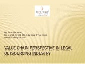 Value Chain Analysis in Legal Outsourcing, By Arun Narasani