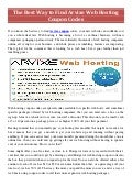 Arvixe Coupon Codes and Arvixe Promo Codes of 2014