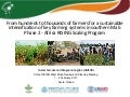 From hundreds to thousands of farmers for a sustainable intensification of key farming systems in southern Mali: Phase 2—Africa RISING Scaling Program