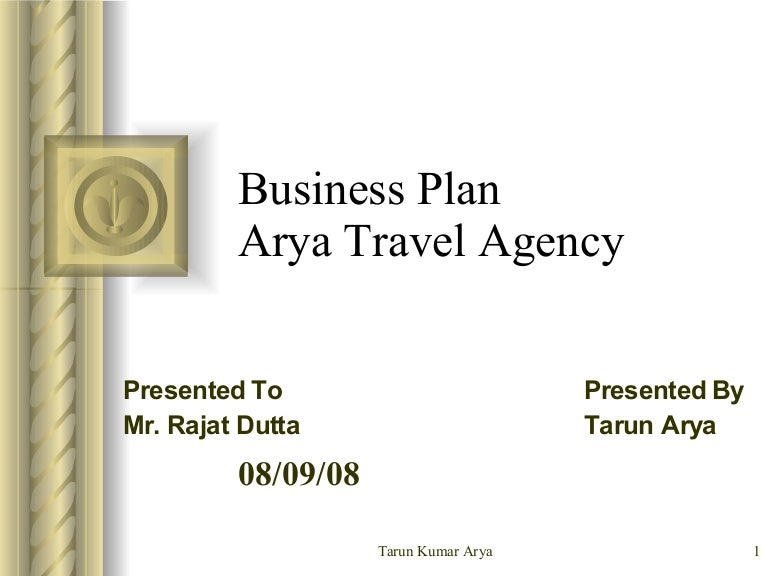 Business plan for arya travel agency accmission Images