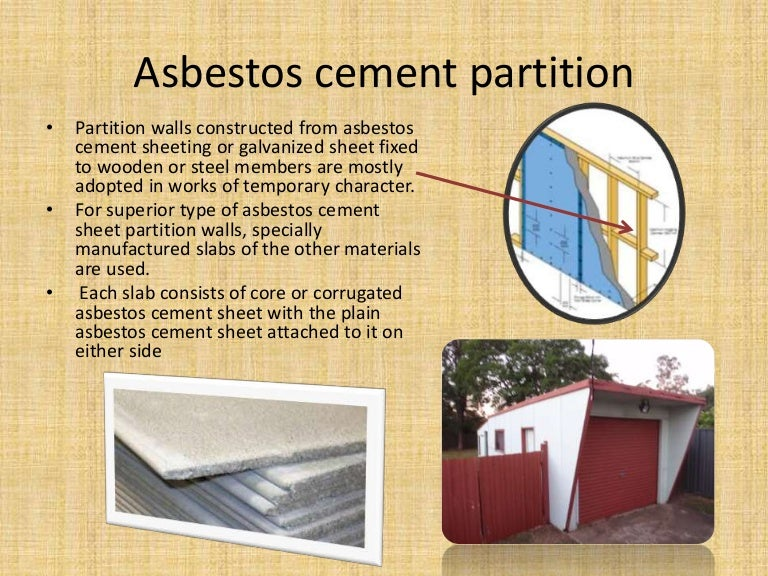Asbestos Cement Partition