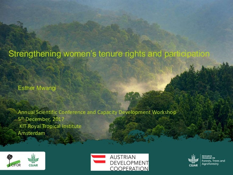 Getting a seat at the table  Strengthening women s tenure rights and  participation in community forestry in Uganda 698f9604cb
