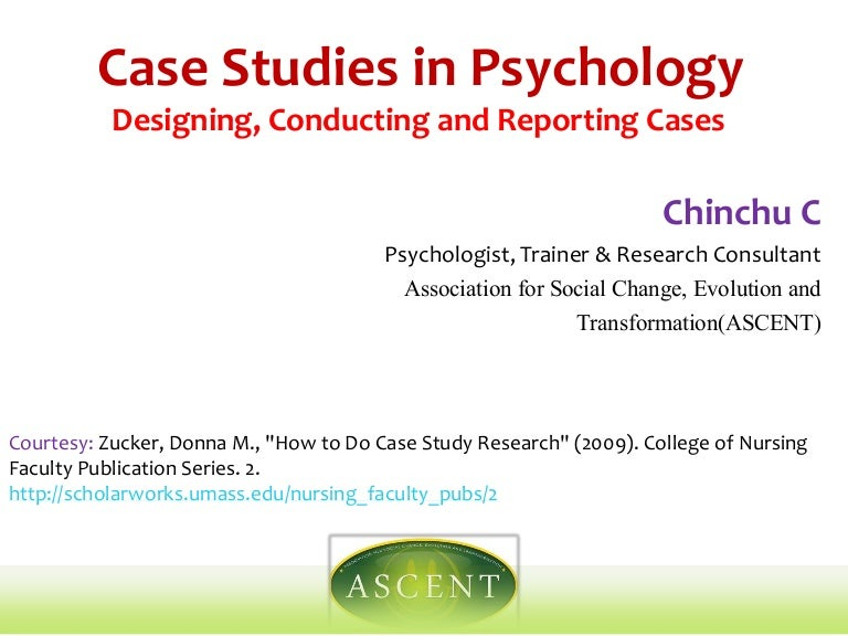 psychological case study report Case study in psychology