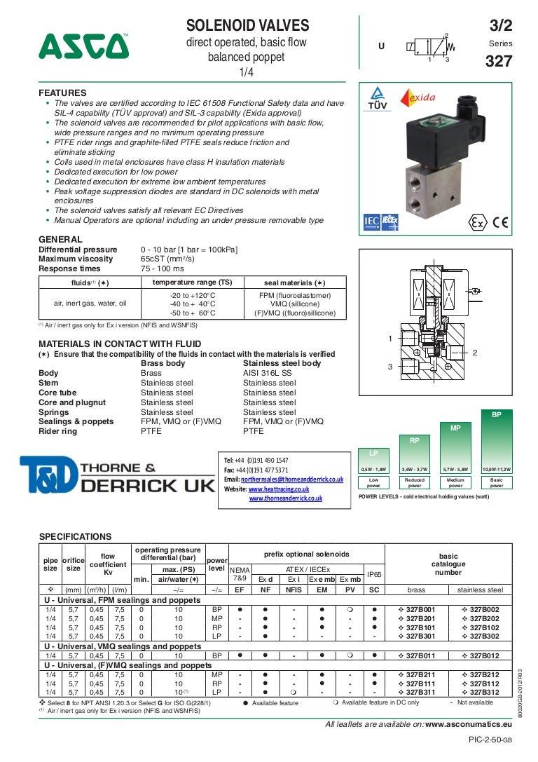 Asco 8327 Wiring Diagram Simple Site Solenoid Switch 3 Danfoss