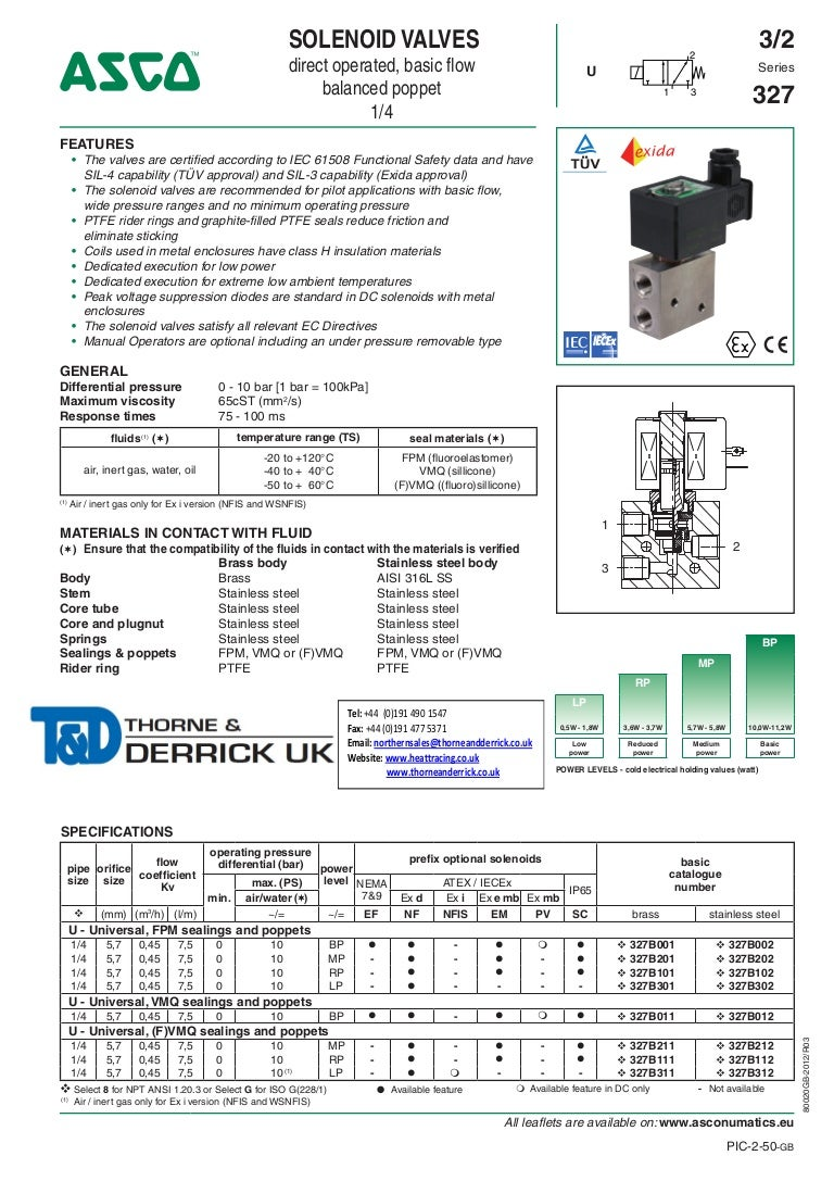 asco 327 series solenoid valve 0 25 direct operated basic flow valves spec sheet1 140523060111 phpapp02 thumbnail 4?cb=1404358805 asco atex solenoid valves 327 series spec sheet asco 8210 wiring diagram at n-0.co
