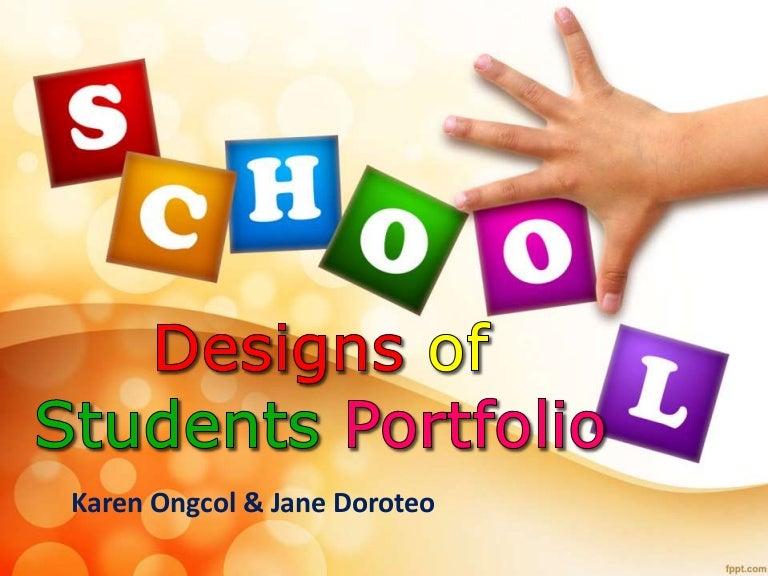 designs of students portfolio