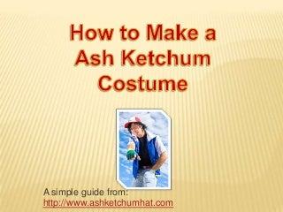 How to Make a Ash Ketchum Costume