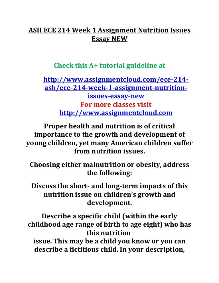 essay on importance of nutrition