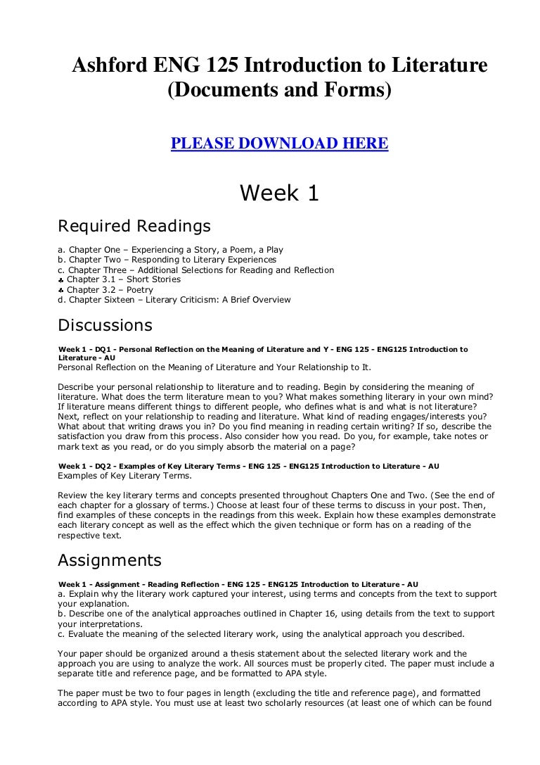 Ashford eng 125 introduction to literature documents and forms buycottarizona Image collections